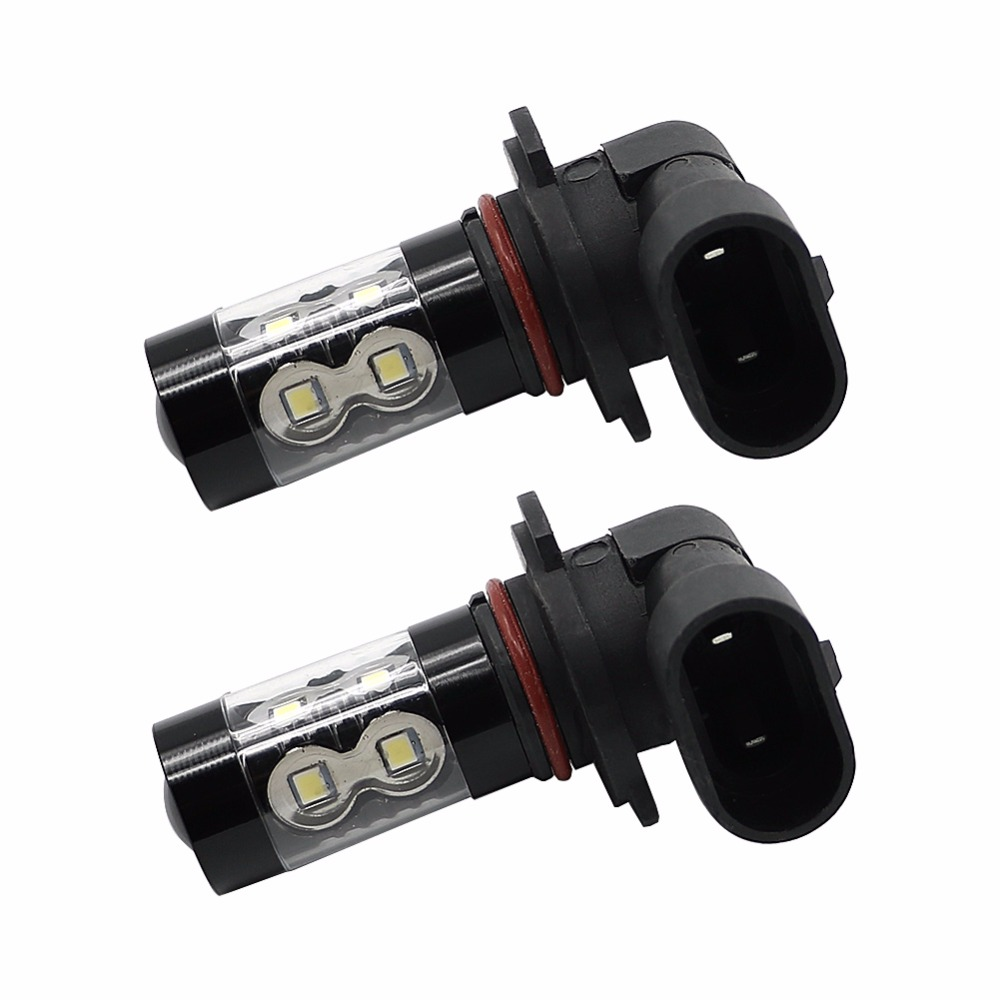 2pcs H10 50W Fog Light 9145 White LED Bulbs for 02~10 Ford Explorer Sport Trac