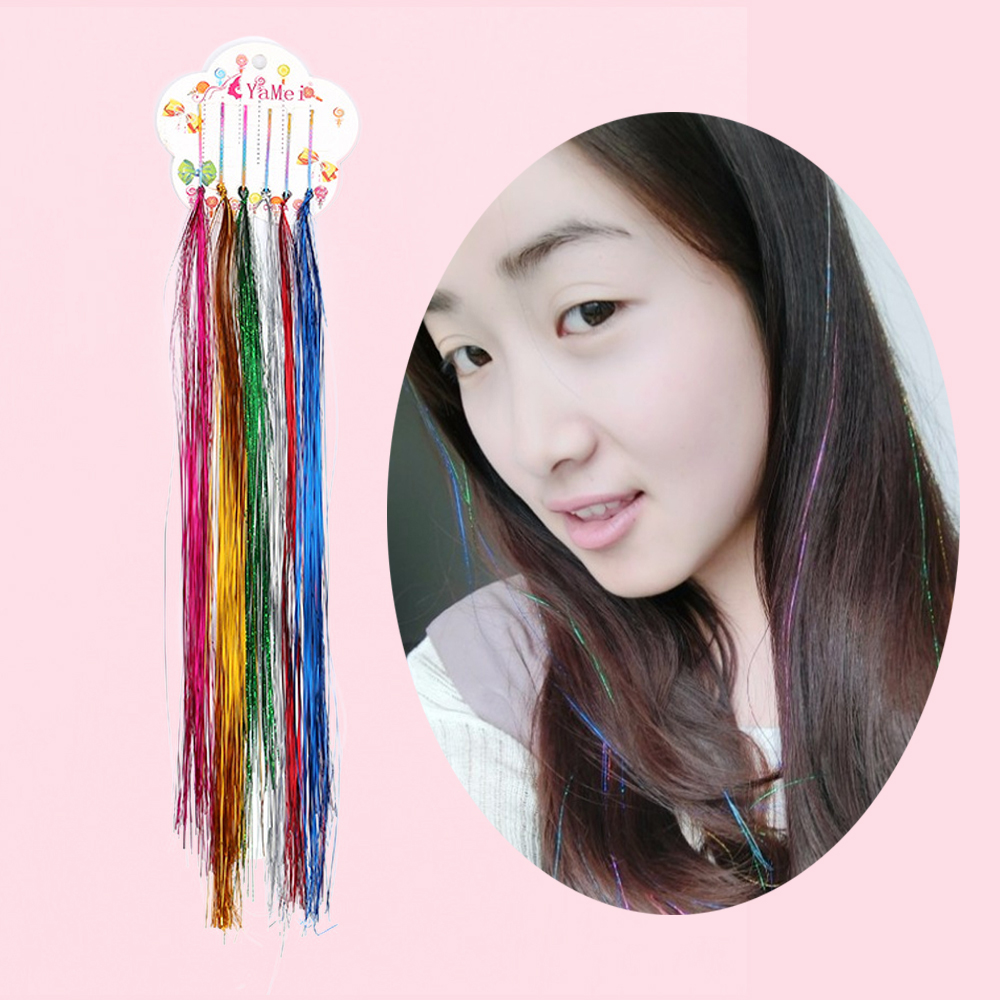 Fashion Women Girls Twinkle Hair Extensions Multi Color Hair Pin