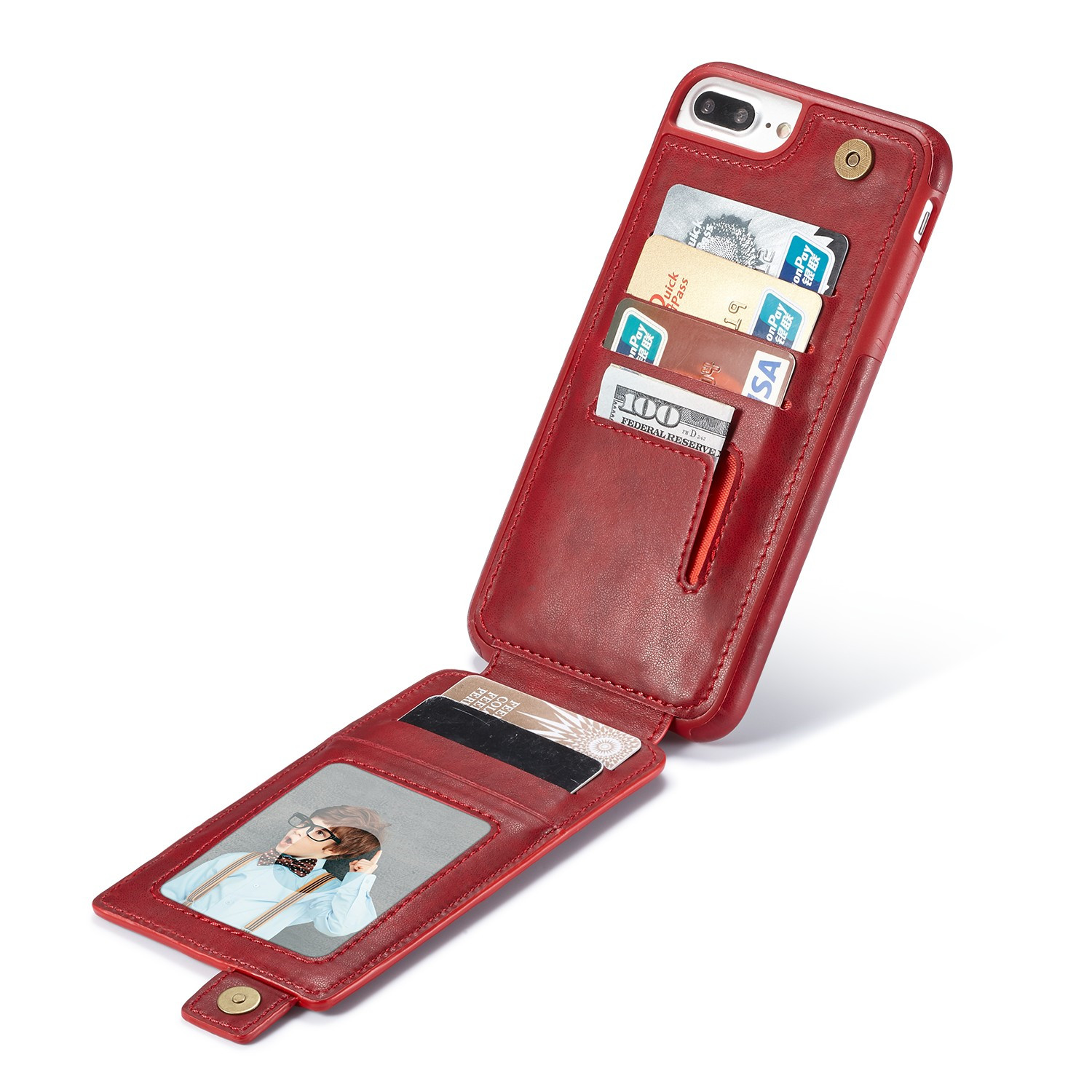iphone flip phone vertical flip leather card slot holder back cover for 9660