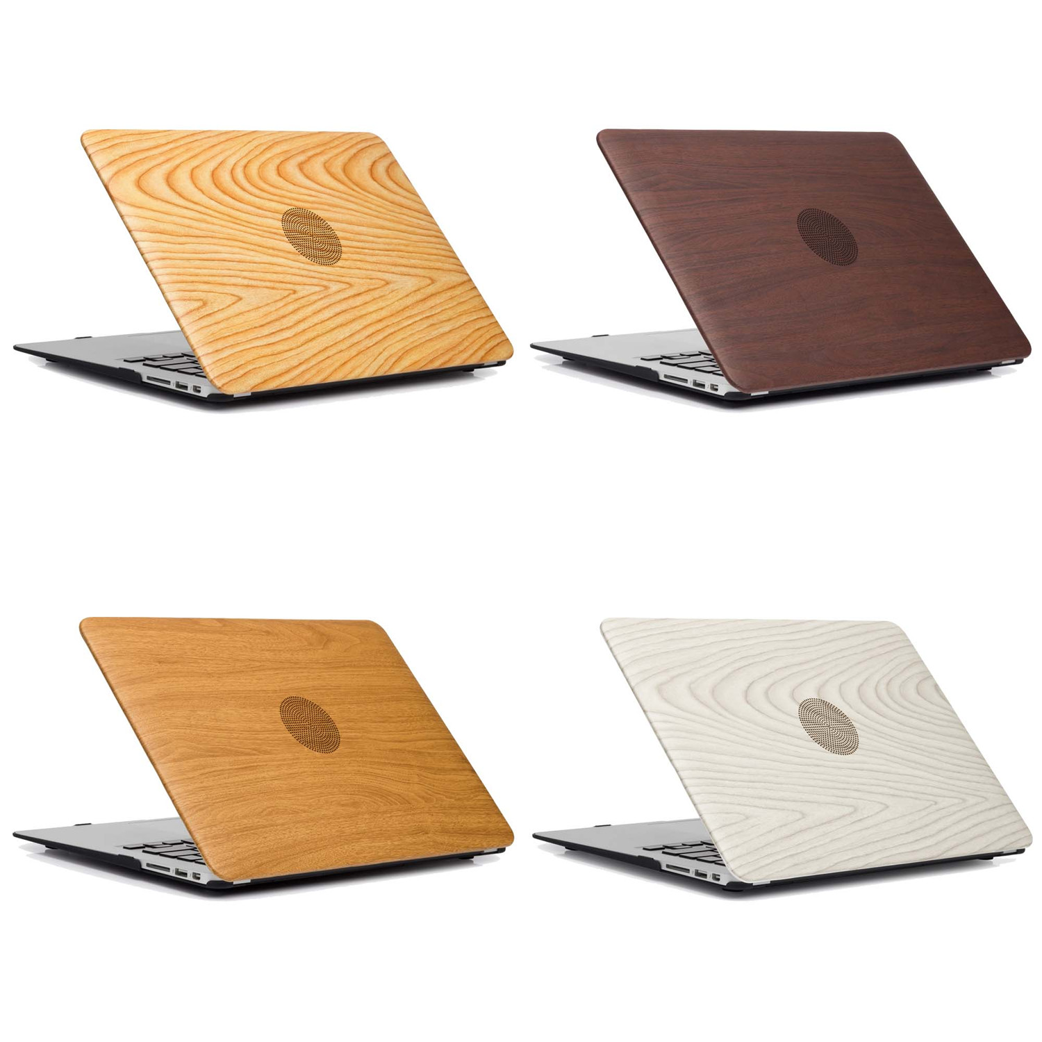 "PU Leather Wood Grain Hard Case Cover for Macbook Air Pro 11/"" 13/"" 15/"" Retina 12/"""