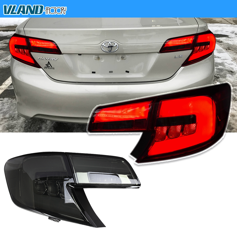 Vf For 12 14 Toyota Camry Led Taillights Sedan Rear Brake Lamps Bmw 1962 Ford Truck Lamp Wiring Taillight Styling