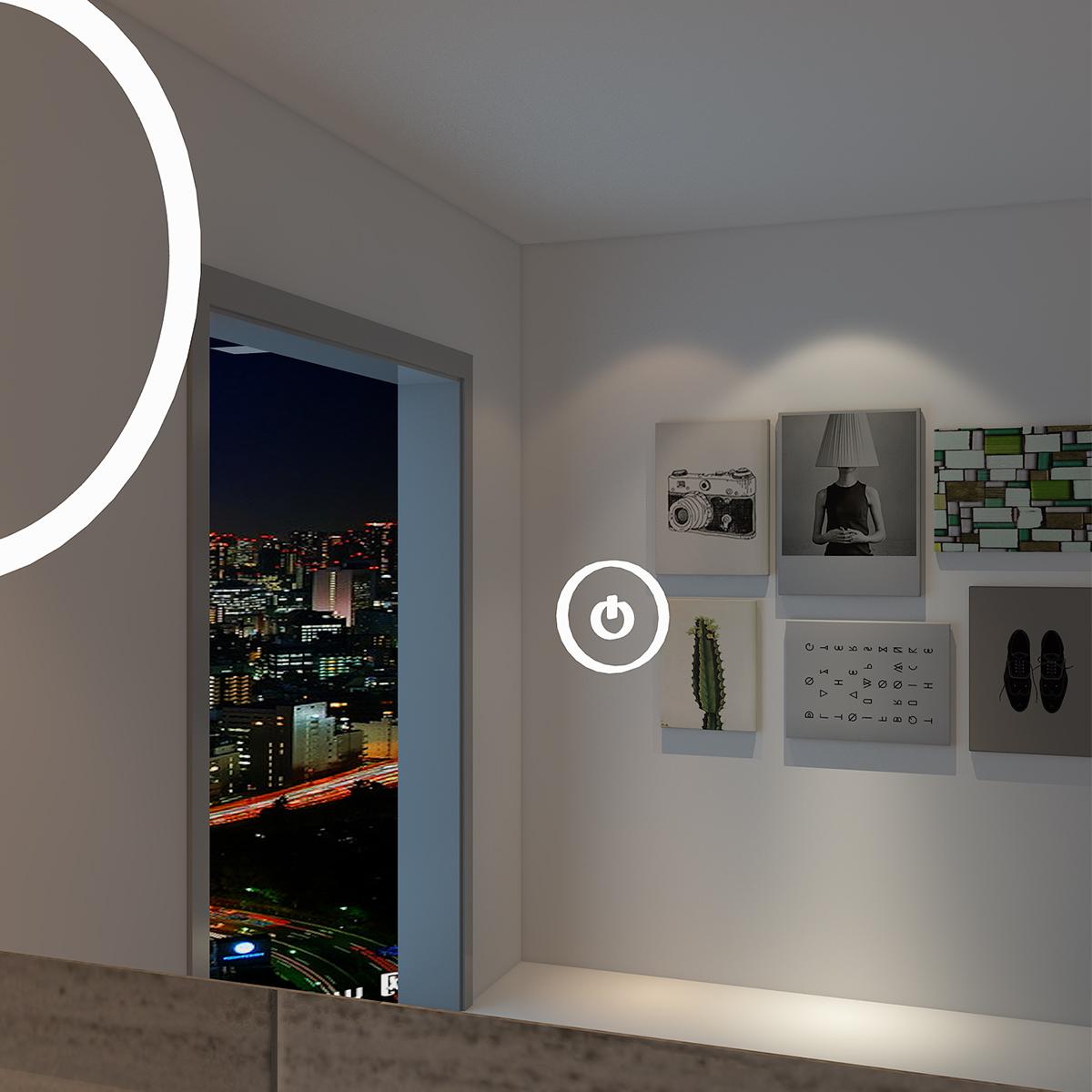 LED Bad Spiegel mit Kosmetikspiegel Badezimmer ...