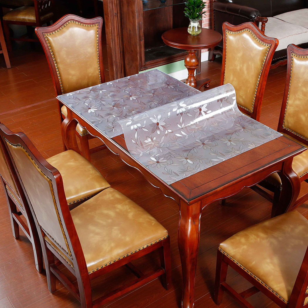Dining Room Table Covers Protection: WIPE CRYTAL CLEAN PVC VINYL TABLECLOTH DINING KITCHEN