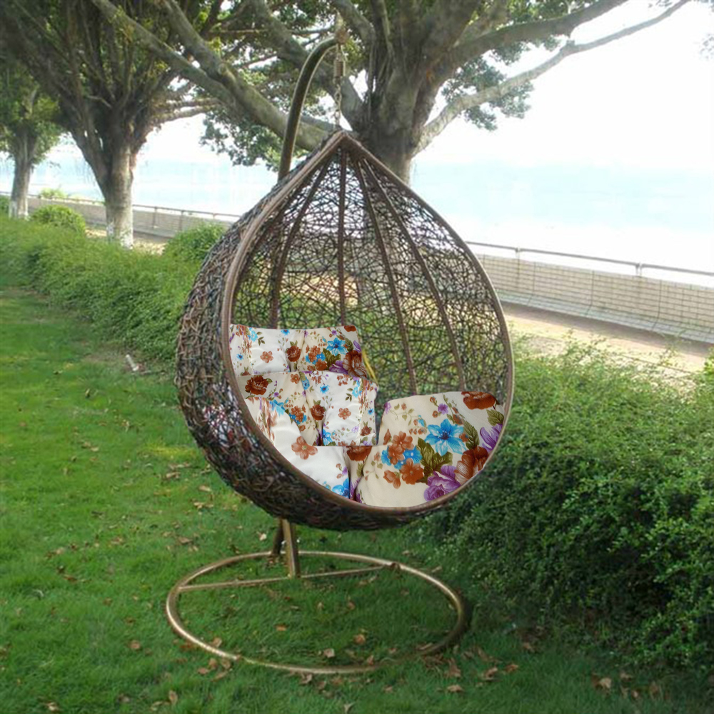 Patio Hammock: Rattan Hanging Swing Chair Patio Garden Egg Chair Hammock