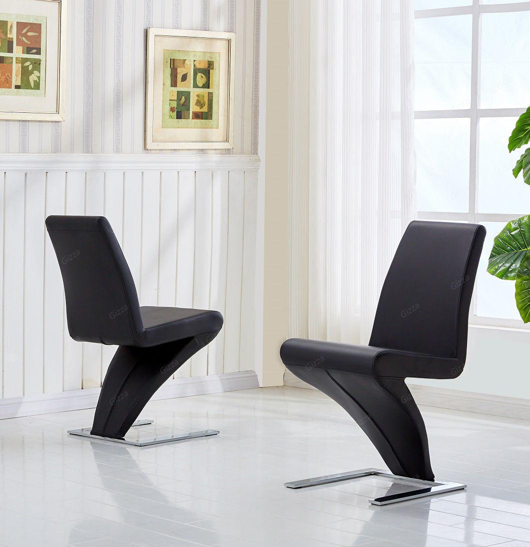 2x moderne design schwingstuhl esszimmerst hle stuhl z for Designer schwingstuhl