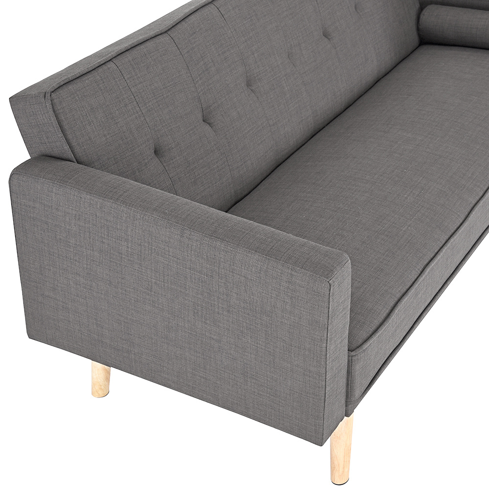 Superior Sofa Beds Linen Fabric Multifunctional Lazy Sofa 3