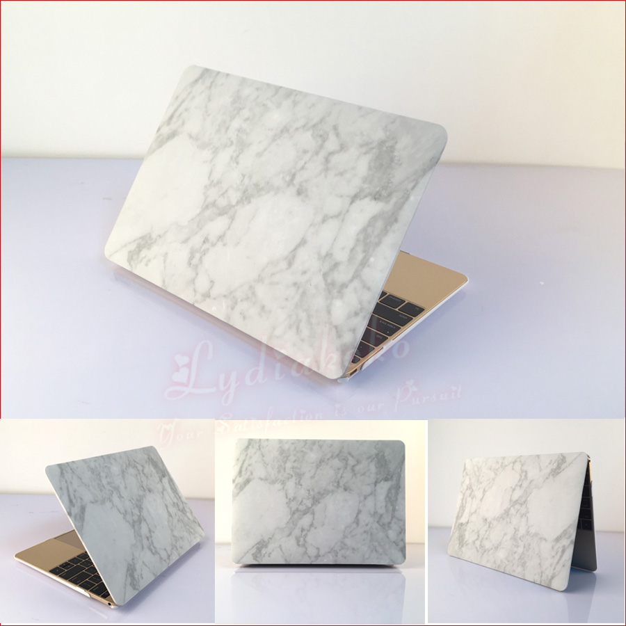 Marble hardshell case+US keyboard cover For Macbook Air 11.6 Pro 13.3 15.4 2015