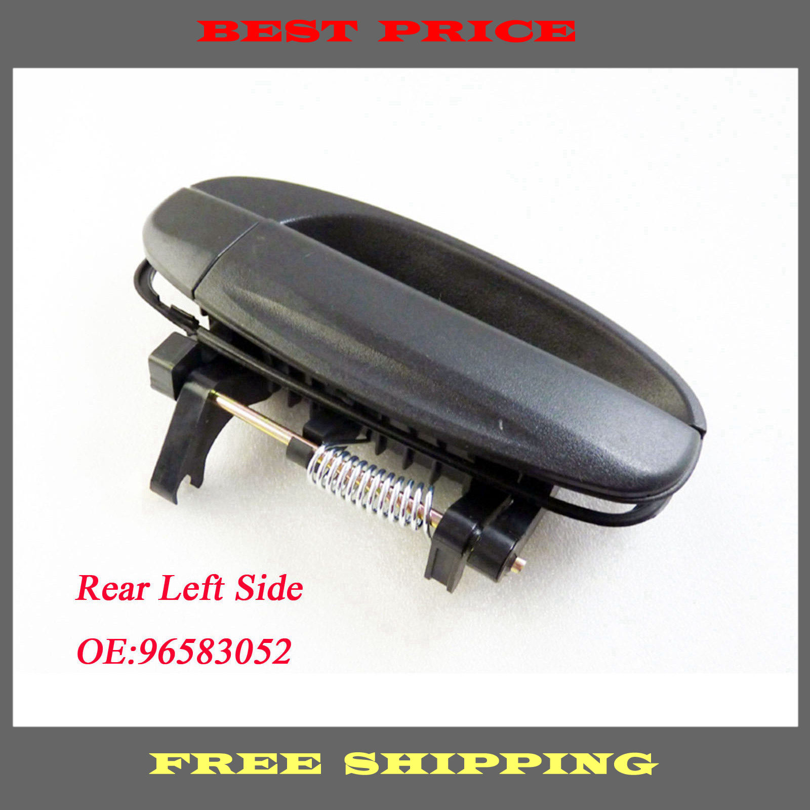 New Outside Door Handle Rear Left Drive Exterior Black For