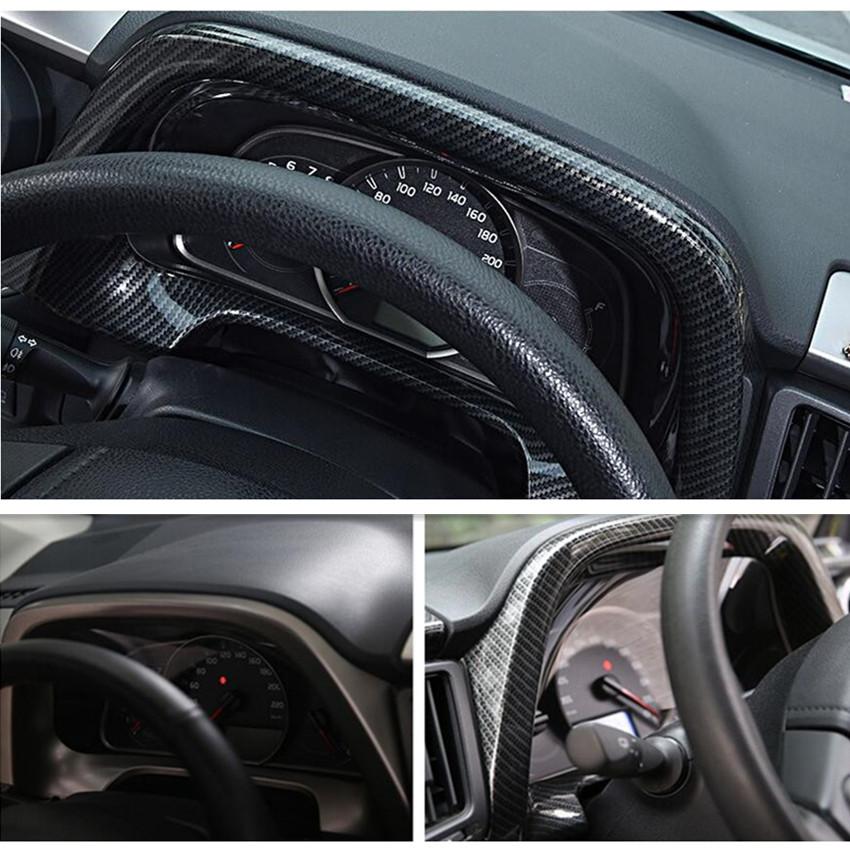 Carbon Fiber Interior Dashboard decorative frame Trim For Toyota RAV4 2016-2018