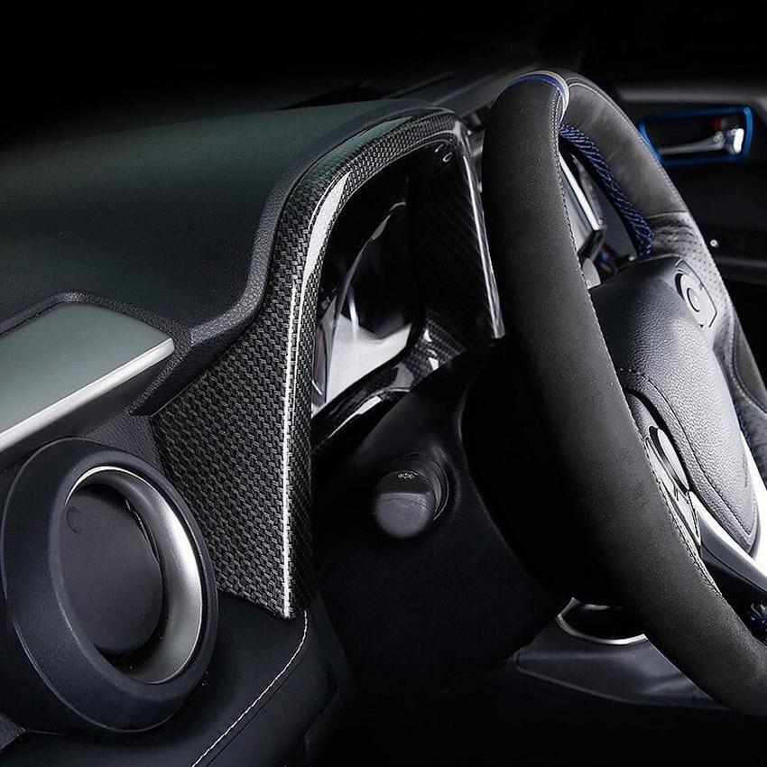 Carbon Fiber Inside the car Handle Frame Cover Trim For Toyota RAV4 2016-2018