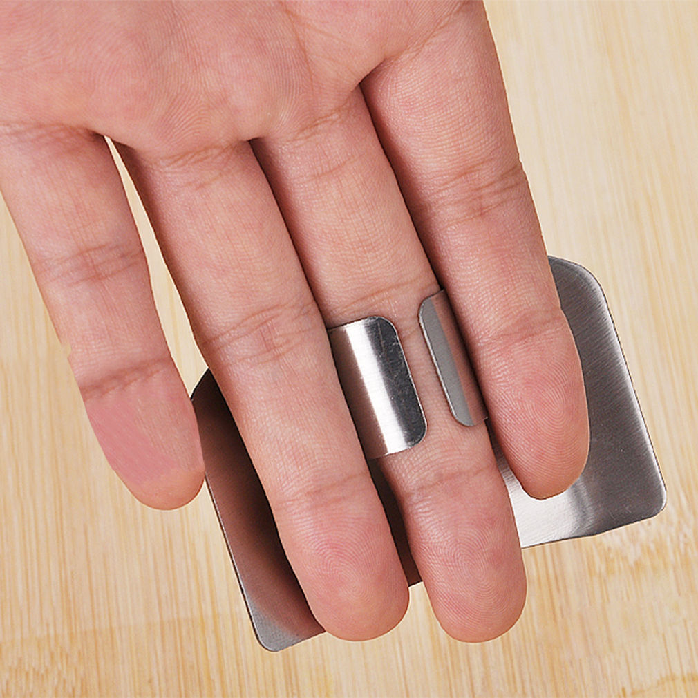 Stainless Steel Finger Hand Protector Guard Knife Slice Shield ...