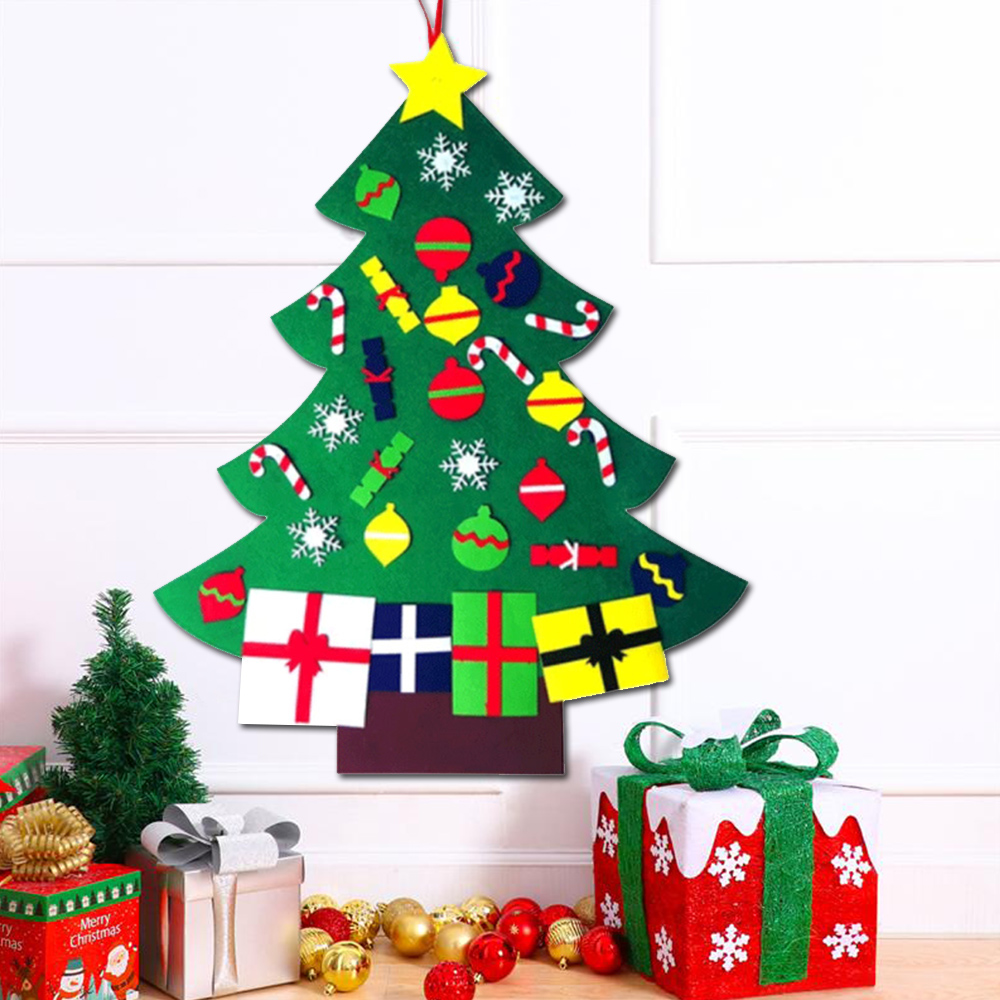 Toddler Christmas Tree.Details About Large Christmas Deluxe Felt Tree Door Wall Hanging Toddler Childs Preschool Diy