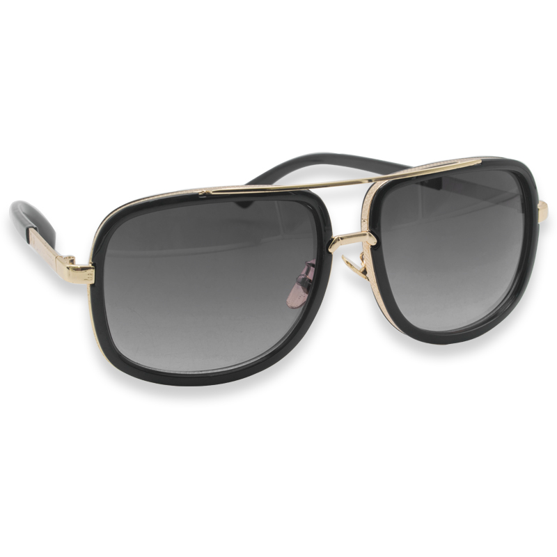 05bda5124e Mach Oversized Square Aviator Gold Metal Bar Men Designer Fashion Sunglasses