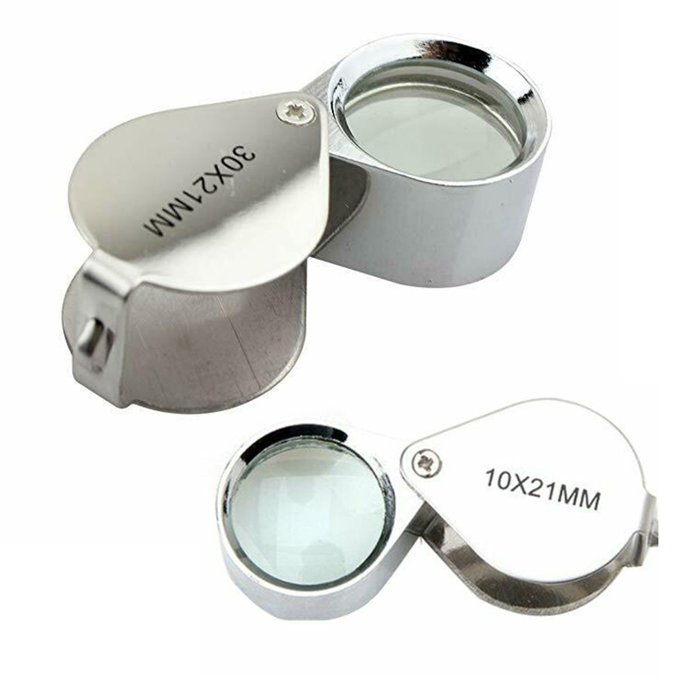 Pocket Jewelry Loupe 30x 21mm Jewelers Eye Magnifying Glass Magnifier