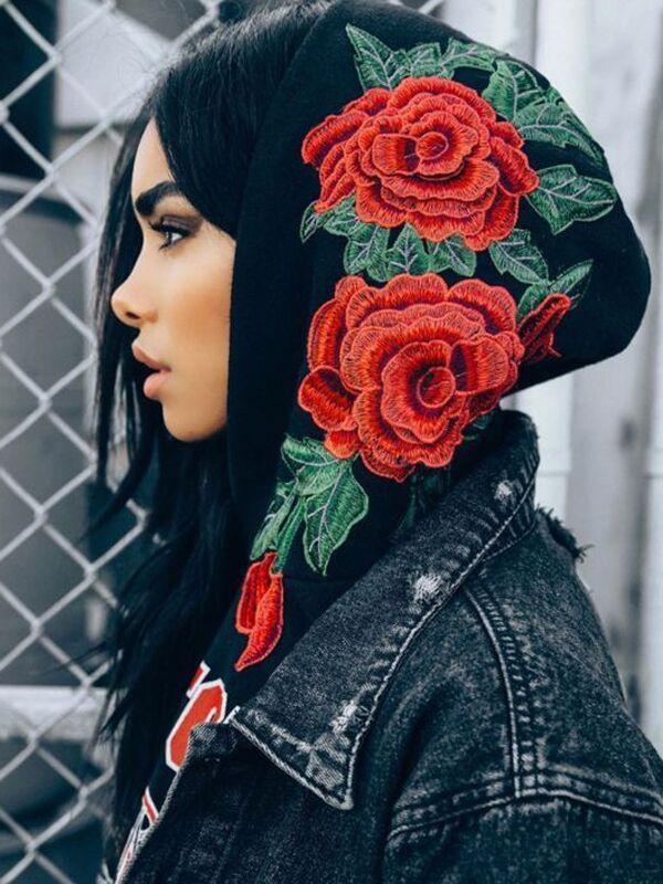 Women Hoodie Long Sleeve Sweatshirt Jumper Sweater Hooded Pullover Coat Tops