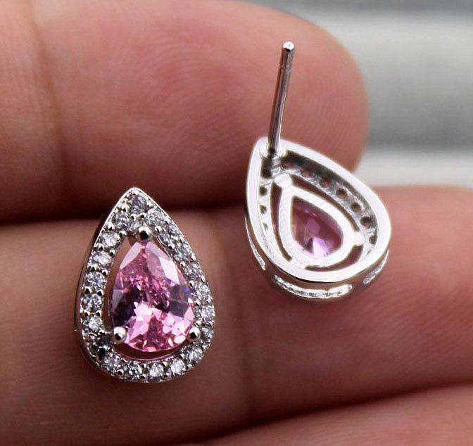 Safety Chain Gemstone Jewellery Luxe Topaz Jewelry Pink Bracelet Sterling Silver