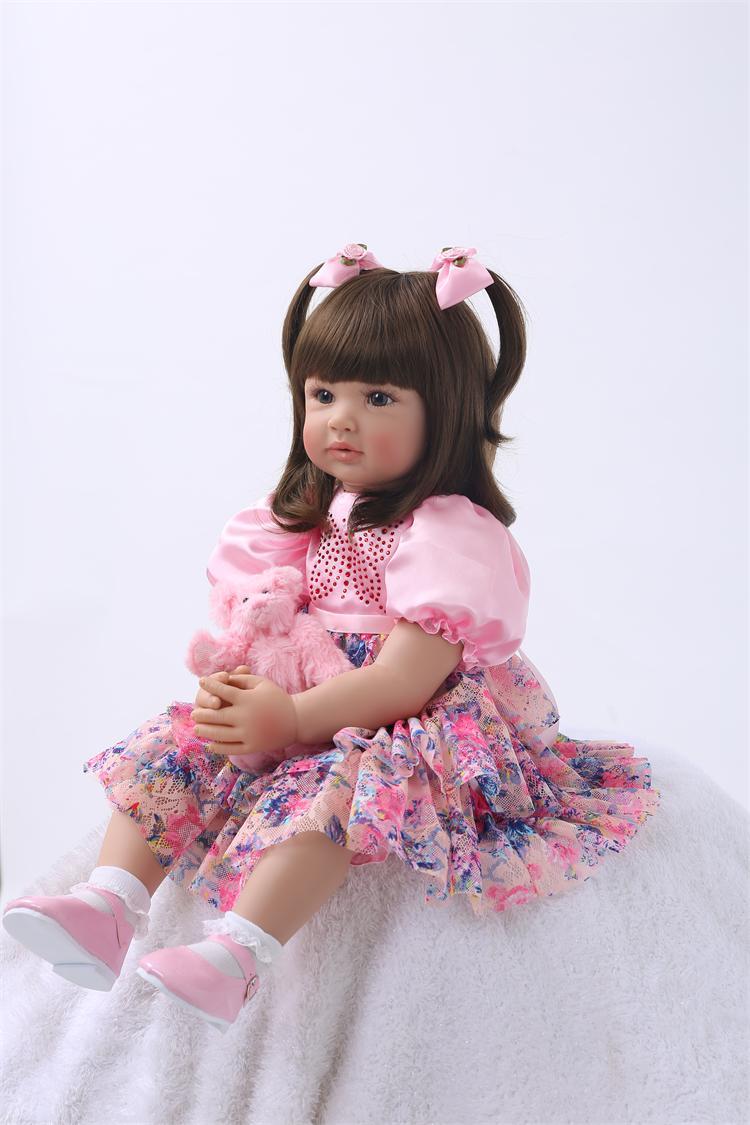 "Lifelike 24/"" Vinyl Reborn Baby Doll Toddler Princess Girl Lovely Birthday Gifts"