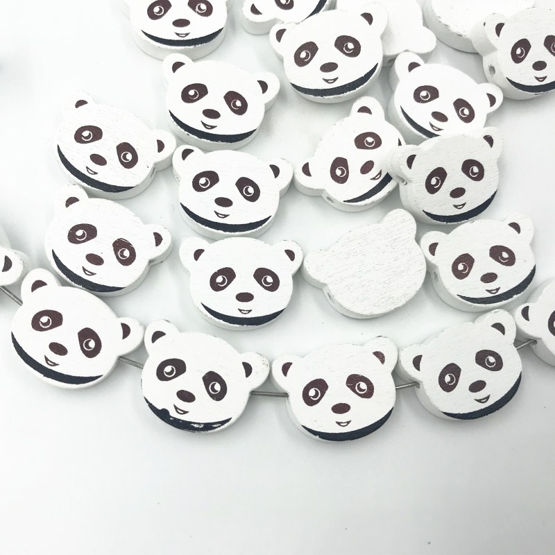DIY Wooden Beads bear Spacer Beading  Kids Toys/&Pacifier Clip 23mm