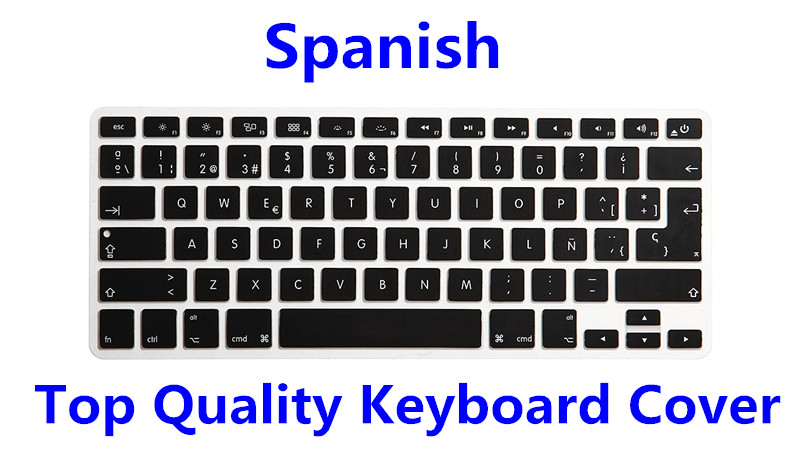 Foreign Language Silicone Keyboard Cover Skin F Macbook Pro Air Retina 13 15 17