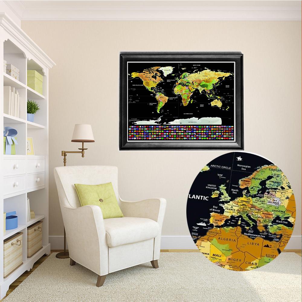 Big travel tracker scraping off world map poster with us states big travel tracker scraping off world map poster sciox Choice Image