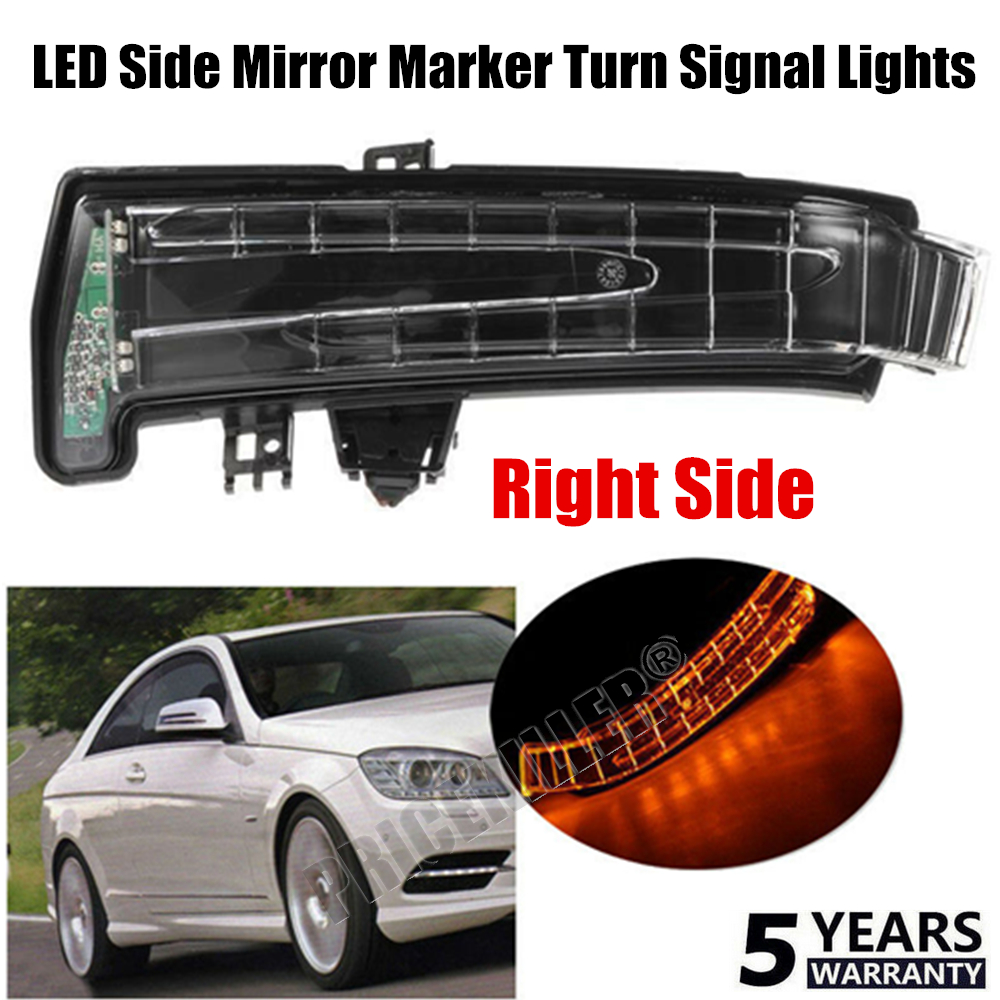 2pcs Side Mirror Marker Turn Signal Light Shells For Mercedes Benz W212 Replaces