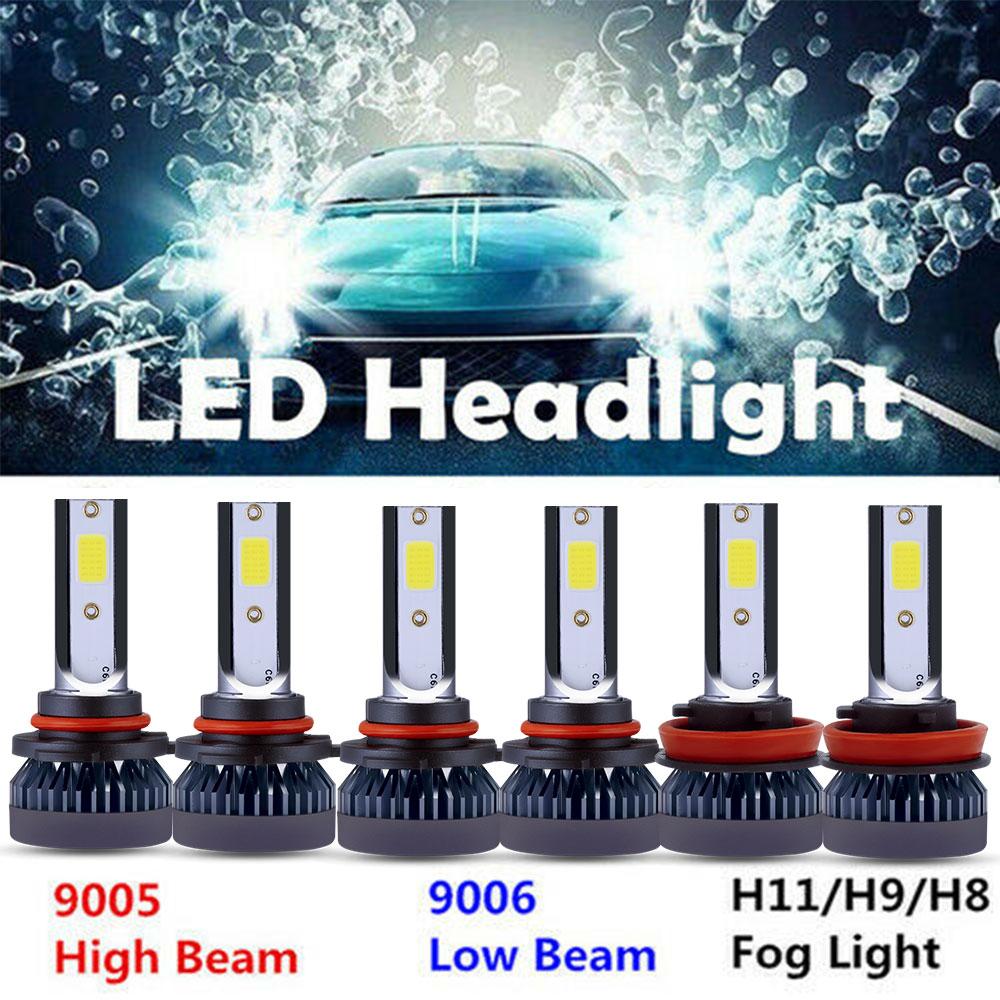 H11 Combo 9005 9006 300W 60000LM COB LED Headlight Kit Hi Low Beam 6000K