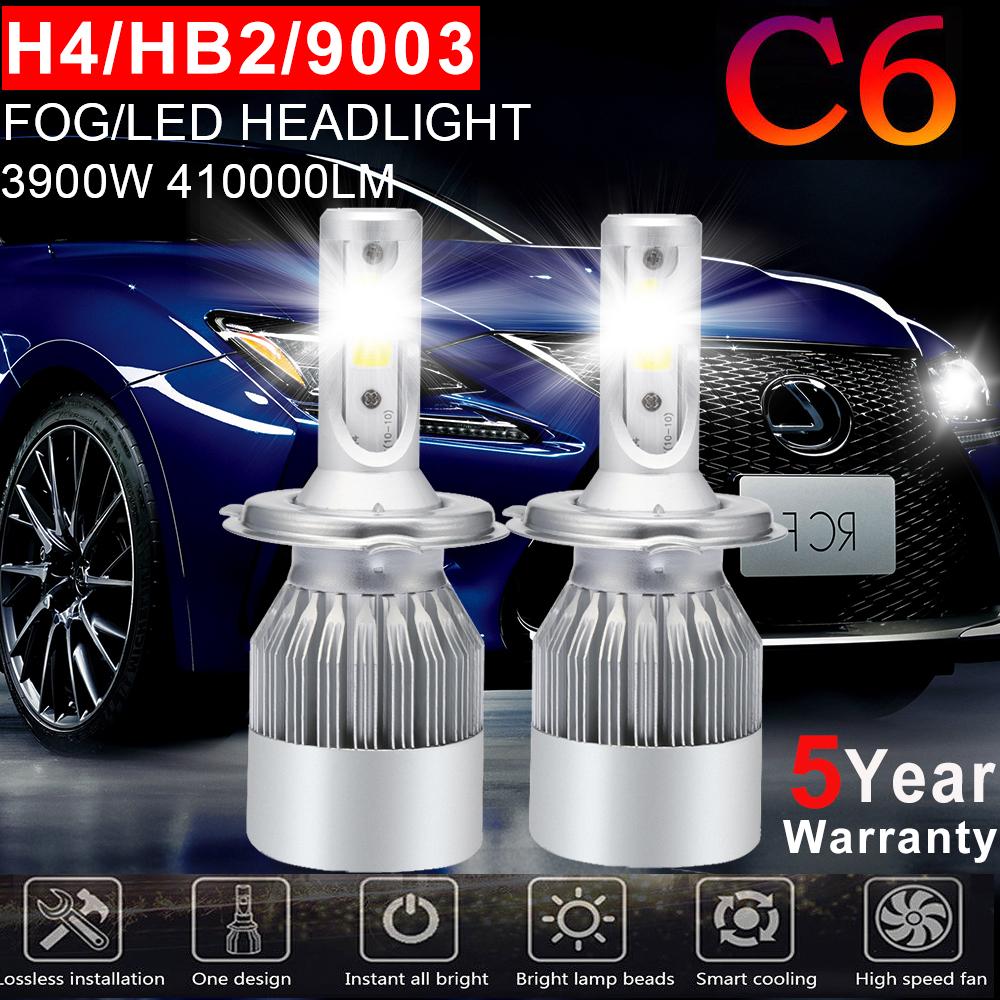 H4 9003 HB2 1500W Motorcycle Cree LED Conversion Headlight Hi//Lo Beam Bulb 6000K