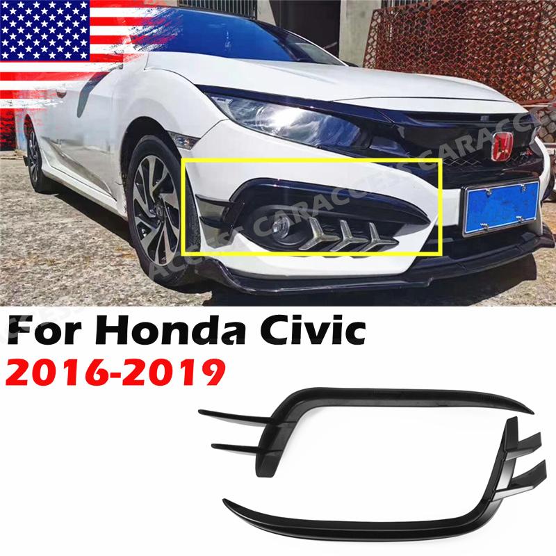 Relays Fog Light For Honda Civic 2016-2018 Chrome Front Fog Light ...