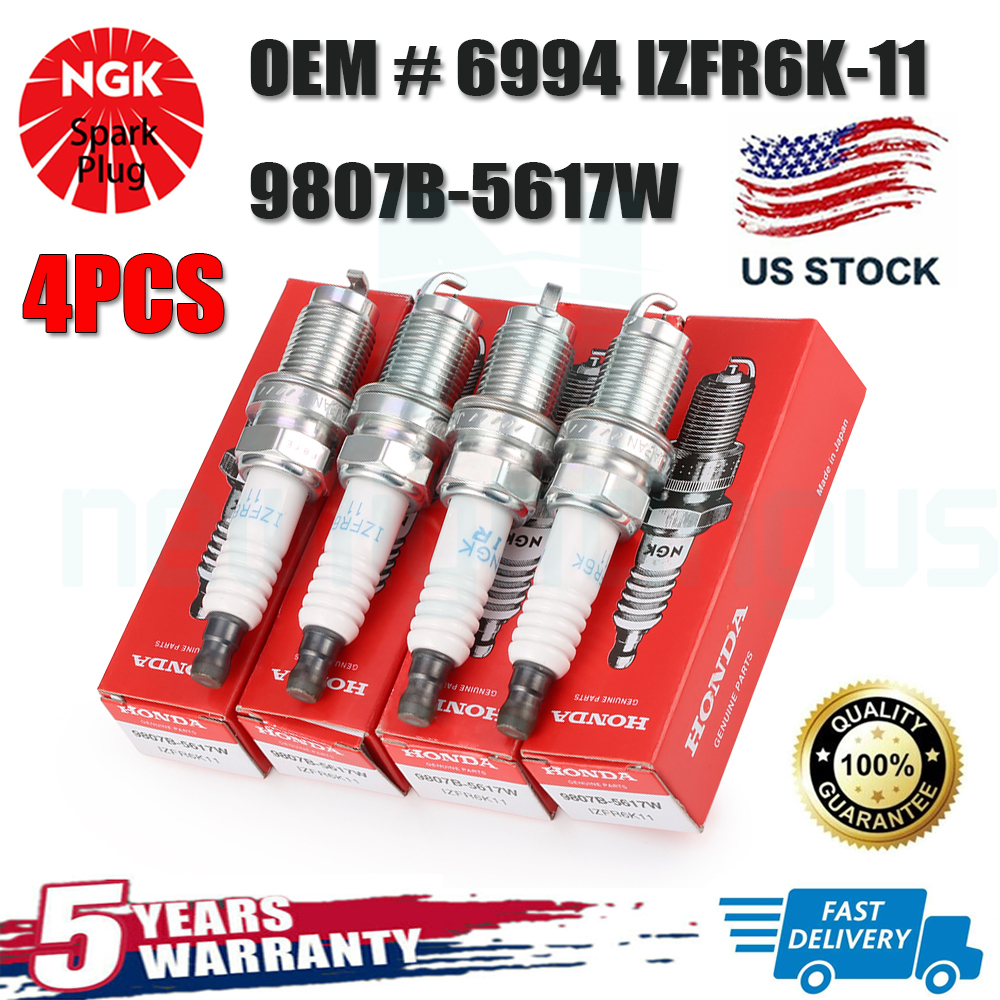 4X NGK Iridium Spark Plugs 6994 IZFR6K11 9807B-5617W For