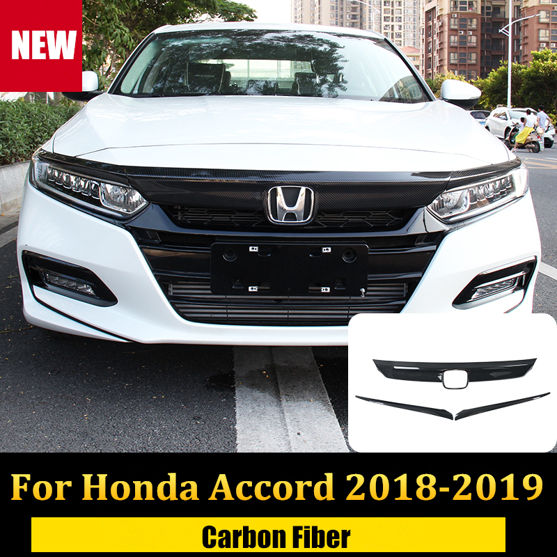 For Honda Accord 2018-2019 Carbon fiber color headlight switch Decorative covers