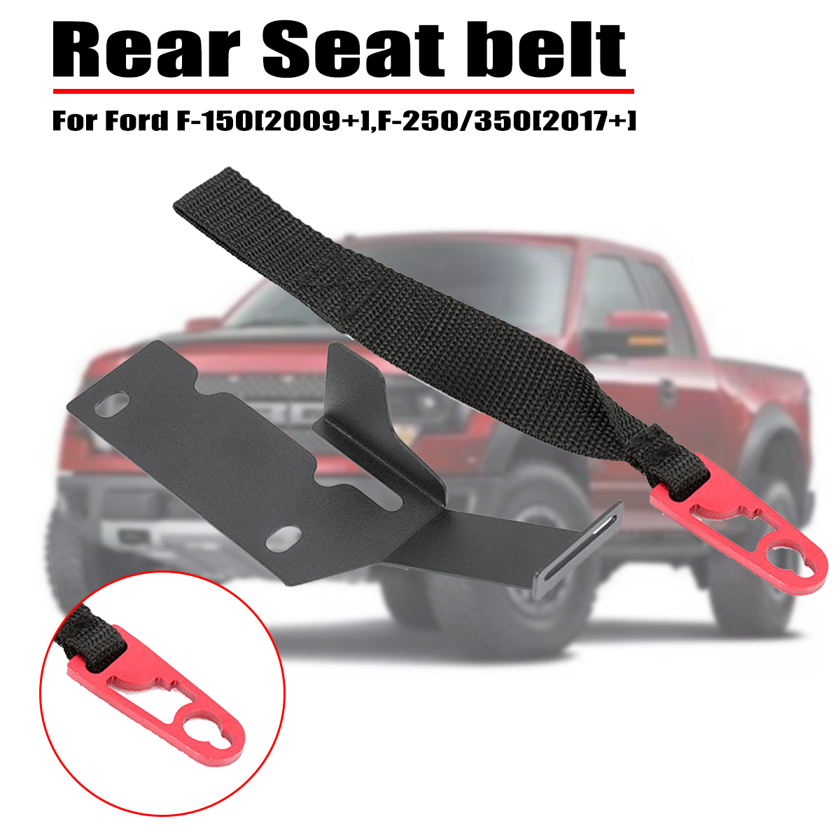 F-250 F-350 2017+ Rear Seat Release Kit Strap Fit for Ford SuperCrew F-150 2009
