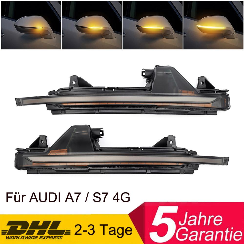 PAAR LED Dynamische Spiegelblinker Laufblinker Aussenspiegel Für Audi A6 RS6 C7