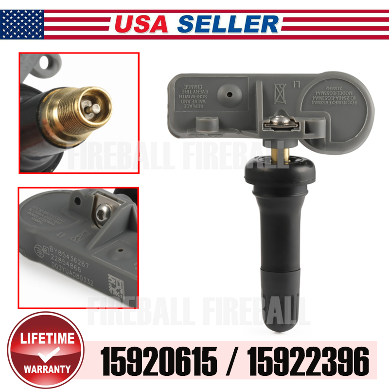 Set of 4 New TPMS Tire Pressure Sensor Monitoring 15922396 15920615 For Chevy GM