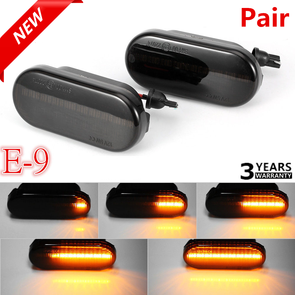 2x Dynamic Flowing Led Side Marker Signal Light Indicator Repeatert For VW T5
