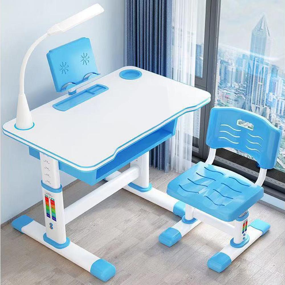Skort Childs Desk and Chair Set Height Adjustable Office Computer Desk and Chair Set Kids School Home Study Desk