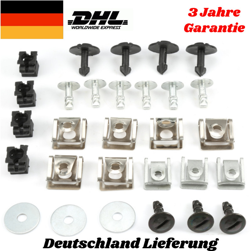 60x Motorschutz Einbausatz Clips Set Schraube Unterfahrschutz Für Audi A4 A6 DE