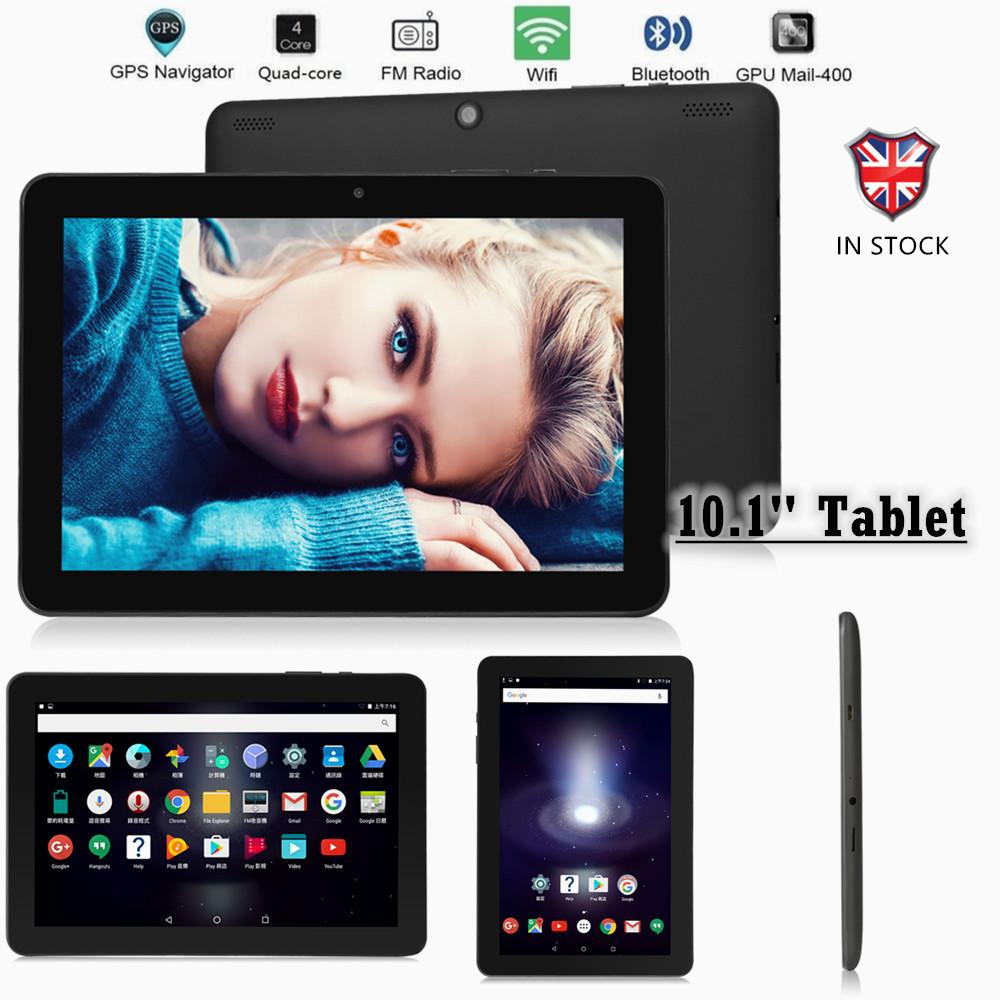 BLACK 2020 10.1″ Inch Android 7.0 Tablet 1+32GB WIFI Dual SIM Camera GPS Phablet