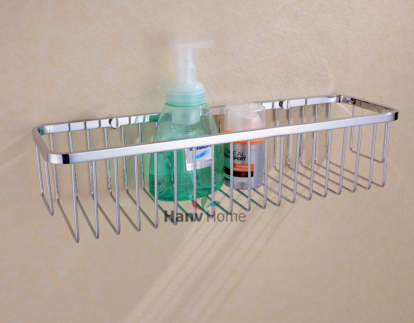 Rectangular Shower Caddy   Stainless Steel Wall Mount Shower Basket For  Bathroom