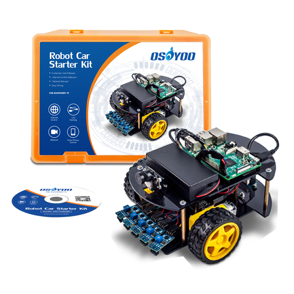 Details about OSOYOO Robot Car Smart Kit Web Camera Video Android iOS APP  Detailed Tutorial
