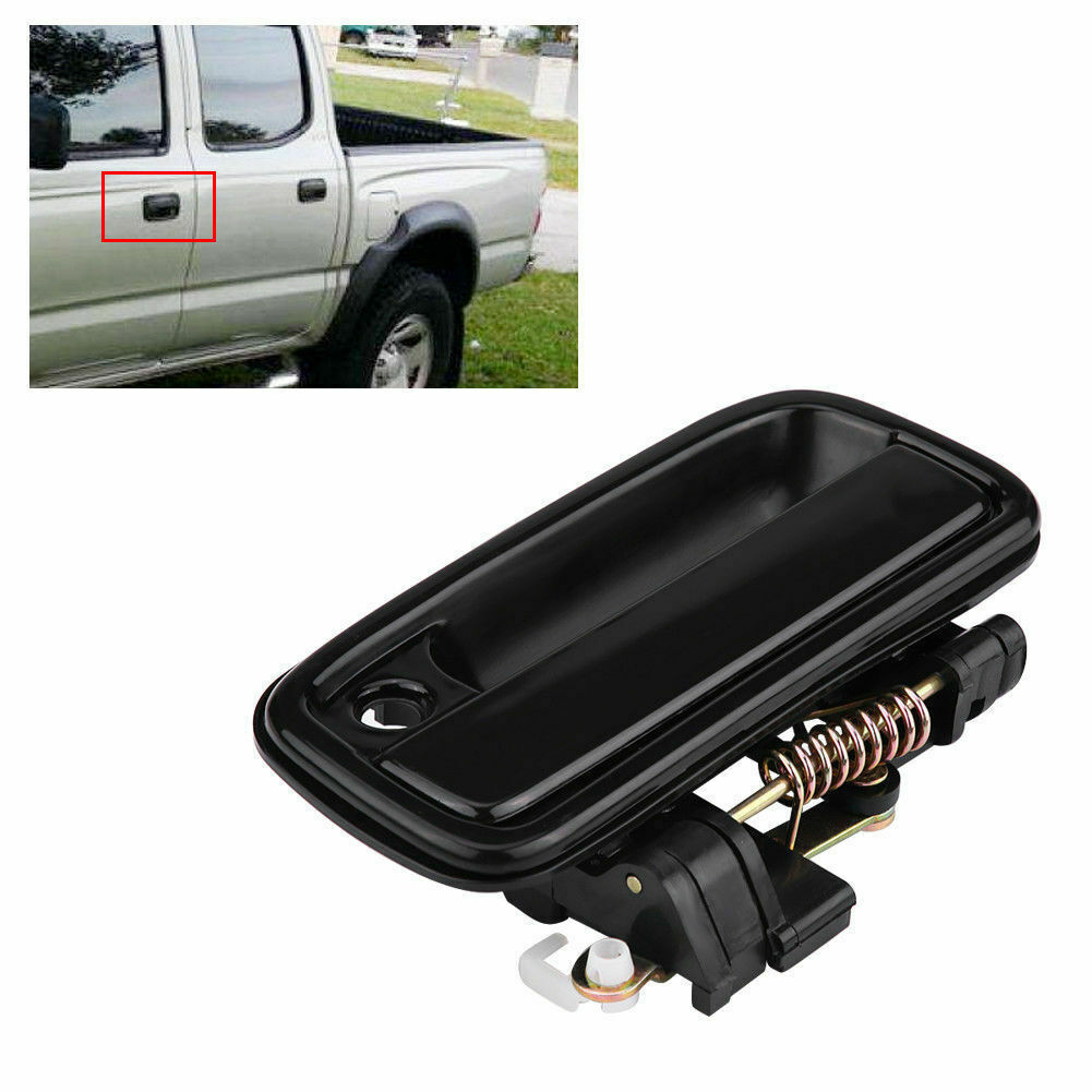 Black Color Fits Outside Front Left Driver/'s Side T1A-69220-35020 T1A Exterior Door Handle Replacement for 1995-2004 Toyota Tacoma