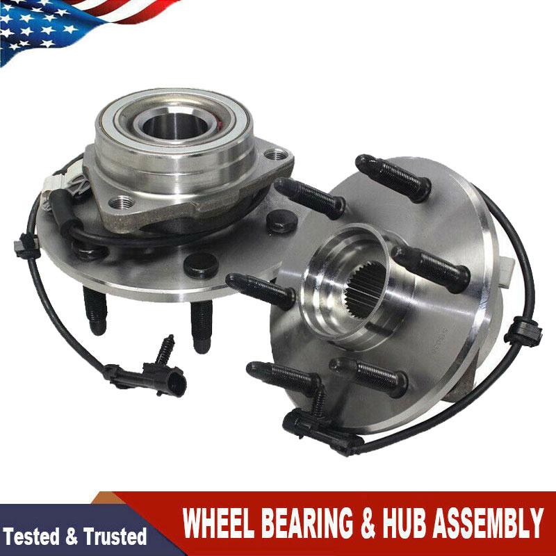 Front Wheel Hub /& Bearing Pair 2003 2004 2005 GMC Safari Chevy Astro 2WD w// ABS