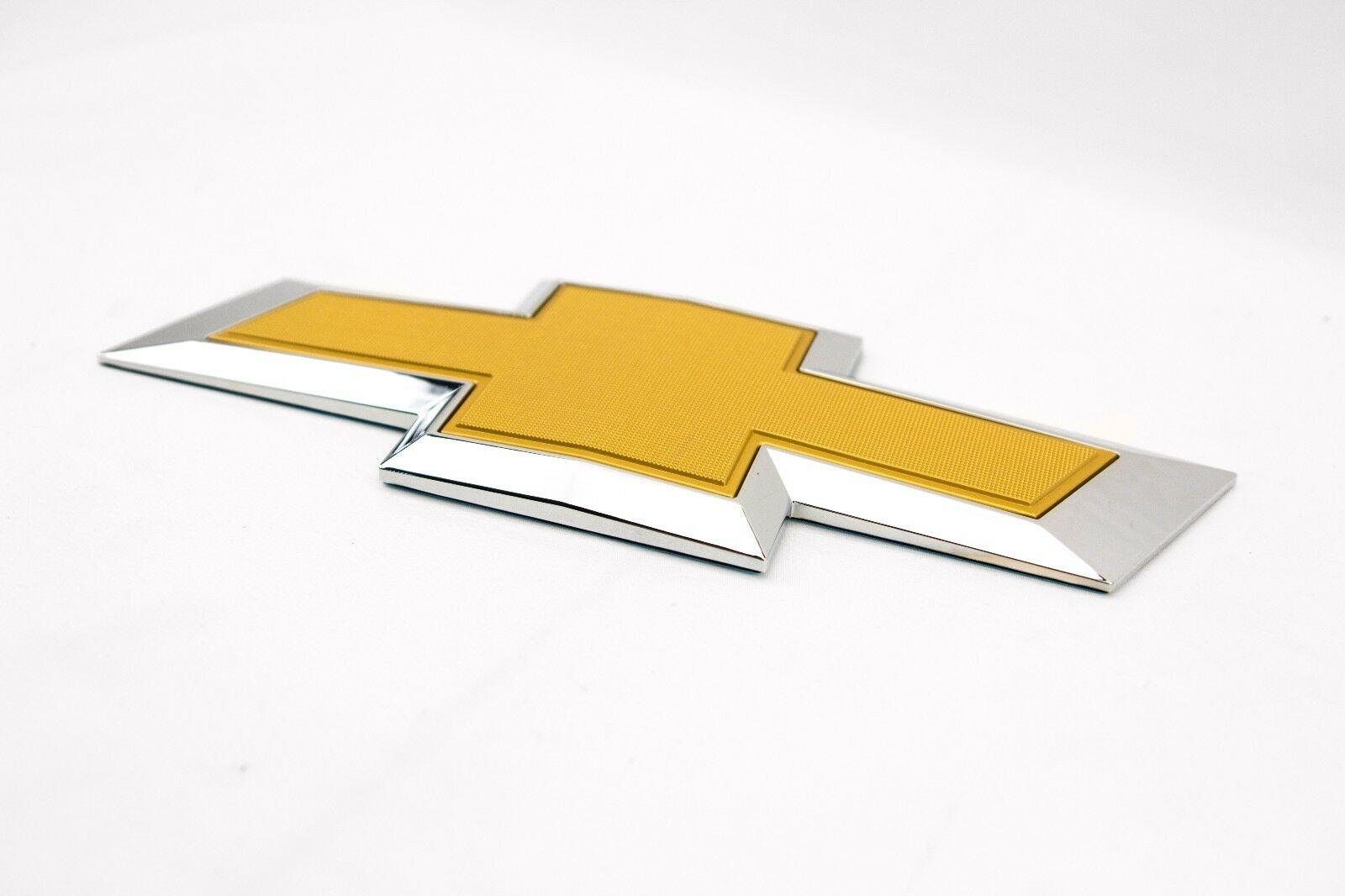 Fits 2014-19 Chevy Silverado Colorado Gold Rear Emblem 1500 2500HD 3500HD Badge