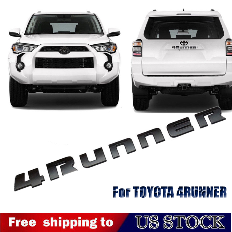Matte Black Rear 4RUNNER  Emblem For 2014 2015 2016 2017 TOYOTA 4Runner Badge