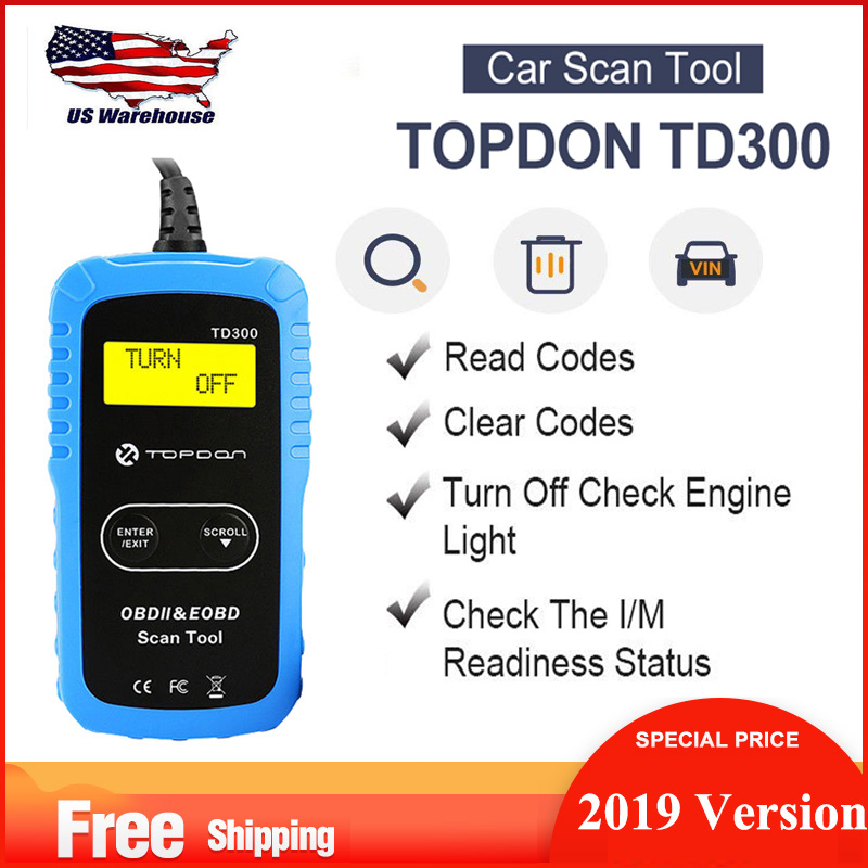 Autel MS300 OBD2 Scanner Vehicle Engine Fault Code Reader Turn Off Check Engine Light View VIN Retrive I/M Readiness status Scan Tool Read and Erase Trouble Codes