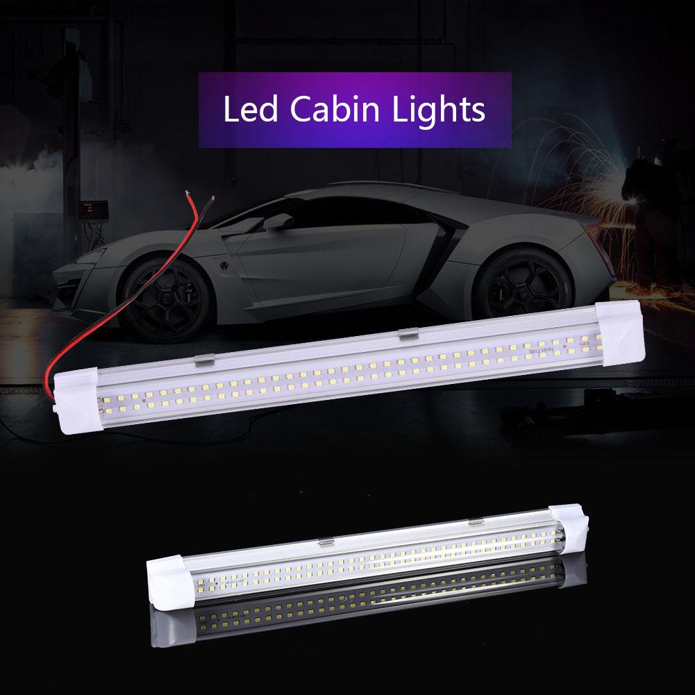 4x DC 12V LED Innenleuchte 72-LEDs Streifen Leuchte Auto Stablampe ...