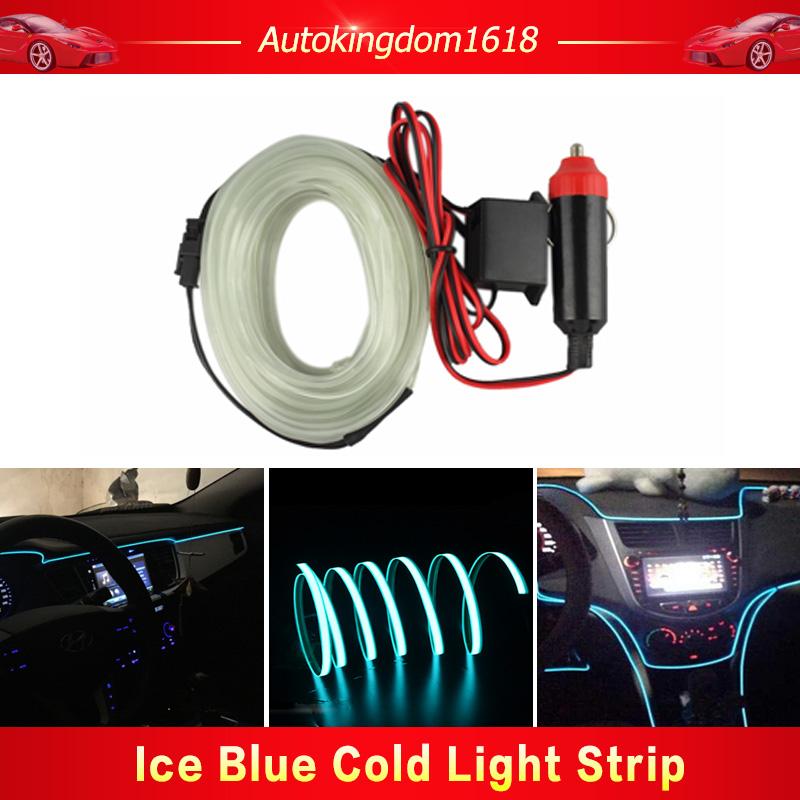 3M ICE Blue EL Wire Car Ambient Light Inside Vehicle Cold Light Car ...