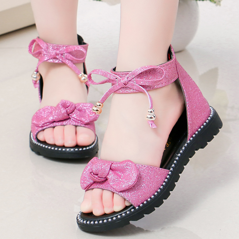 Fashion Girls Roman Sandals Children Students School Sandals Kids Princess Shoes