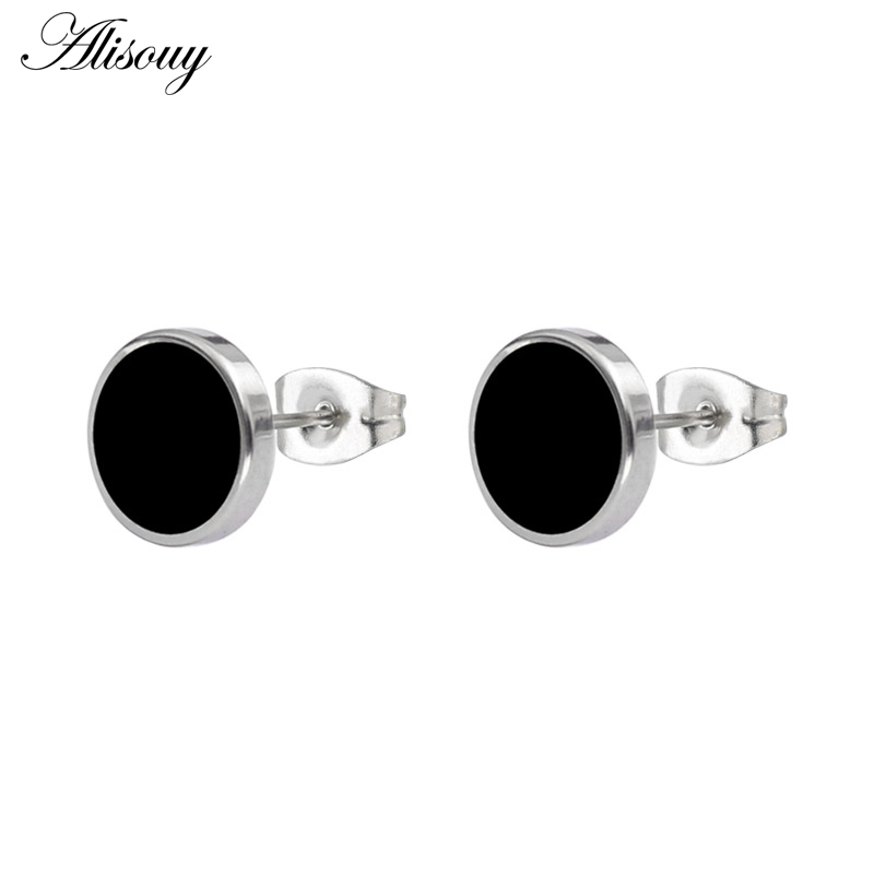 Pair Of 316L Surgical Steel Gold Ion Plated Crystal Set Disc Ear Studs