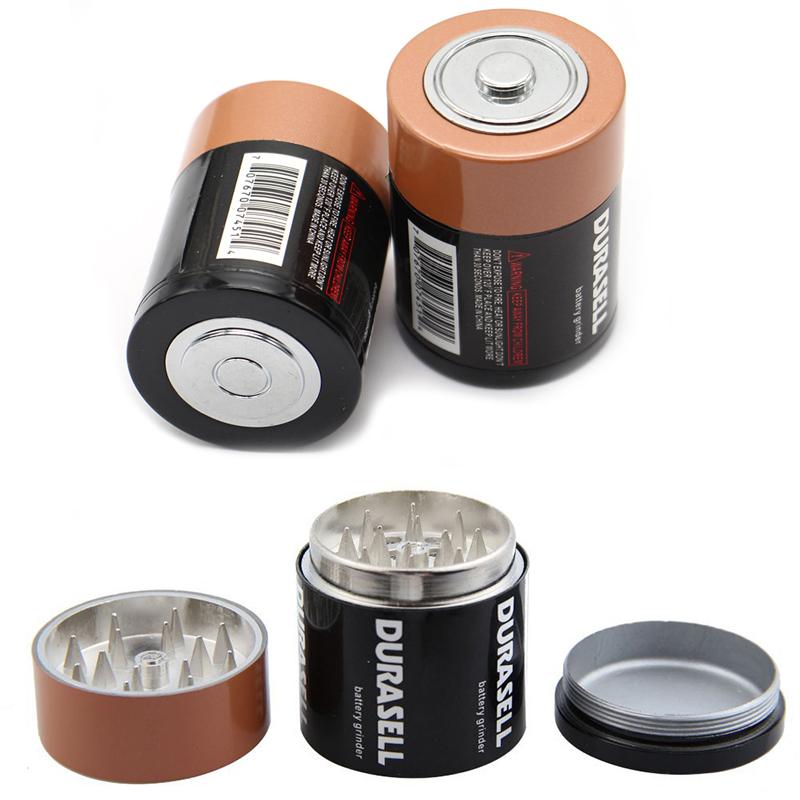 3 Schicht Batterie geformt Herb Grinder Gewürz Hand Crusher Muller Mill Tools
