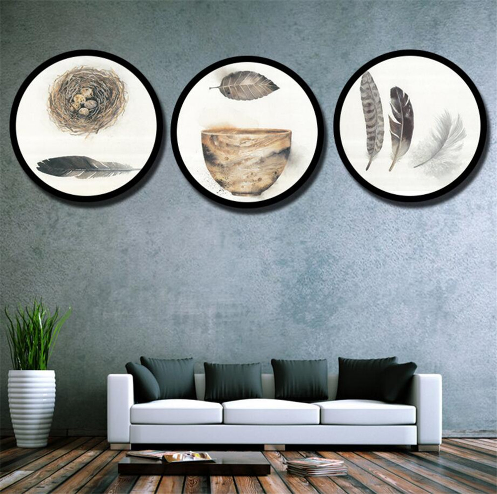 New Round Hanging Photo Frame Modern Collage Photo Family ...